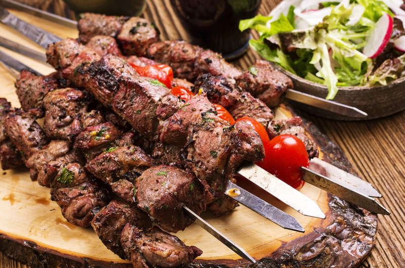 Greek Lamb Souvlakia & Tzatziki